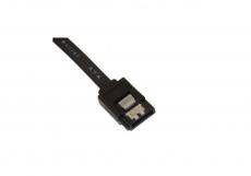 SATA Kabel 6 Gb/s 50 cm gerade mit Lasche schwarz