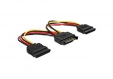 Delock Kabel Power SATA 15pin > 2x SATA HDD Stecker Adapter