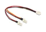 Delock Kabel Molex 3 Pin Buchse > 2x Molex 3 Pin Stecker