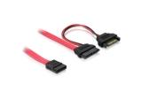 Delock SATA Slimline 13pin > SATA 7 Pin + SATA Power Kabel Adapter