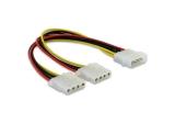 Delock Stromversorgung Y-Kabel > 2x 4pin Molex Adapter